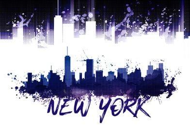 Graphic Art NYC Skyline
