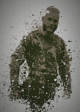 """""""Viking"""" Splatter effect artwork inspired by Ragnar Lot ..."""
