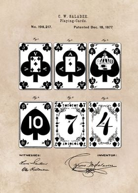 patent - Playing cards - 1877 -  Saladee