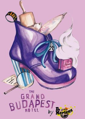 The Grand Hotel Budapest with Dr. Martens. Cinema poste ...