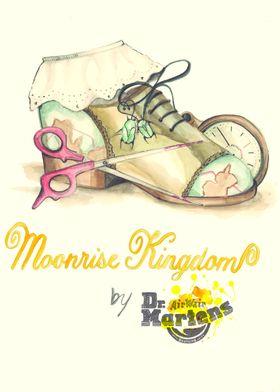 Moonrise Kingdom. Cinema poster featuring Dr. Martens.