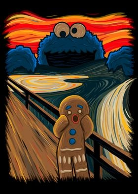 """The Cookie Monster spreads the panic in Munch's """"The Sc ..."""