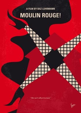 No713 My Moulin Rouge minimal movie poster A poet fall ...