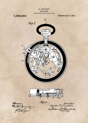 patent - Coullery - Metronome -  1908