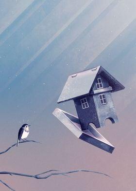 Freezing Bird...house | Digital Art, 2016