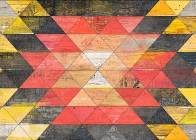 Reclaimed Triangle Pattern Love 4 triangles