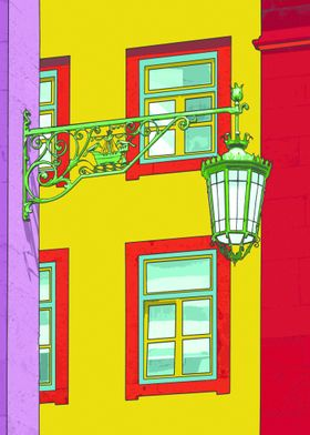 Baixa lamp, photography taken in Baixa, Lisbon. A Pop a ...
