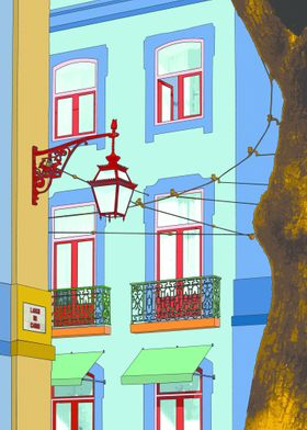 Carmo, photography taken in Lisbon. A Pop art aproach t ...