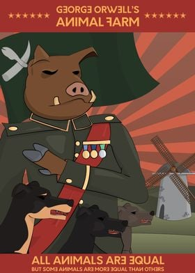 Heroic realism Poster of George Orwell's Animal farm. E ...