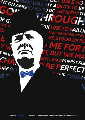 A typographic Churchill poster. Enjoy!
