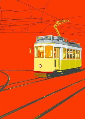 Ajuda in red, photography taken in, Lisbon. A Pop art ...