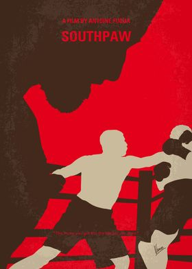 No723 My Southpaw minimal movie poster Boxer Billy Hop ...