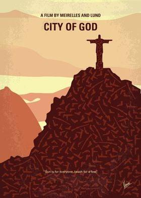 No716 My City of God minimal movie poster Cidade de De ...
