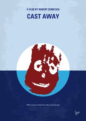 No718 My Cast-Away minimal movie poster A FedEx execut ...
