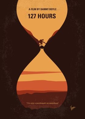 No719 My 127 Hours minimal movie poster An adventurous ...