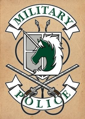 Military Police crest from Attack on Titan.