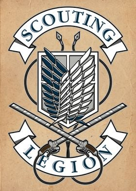 Scouting Legion crest from Attack on Titan.