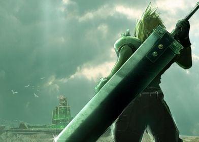 Fan art/Concept Art of Final fantasy VII Cloud looking ...