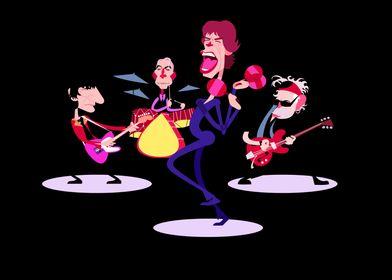 Stylish illustration of the 'World's Greatest Band'