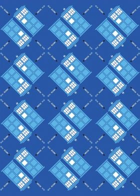 Argyle pattern inspired by a certain doctor