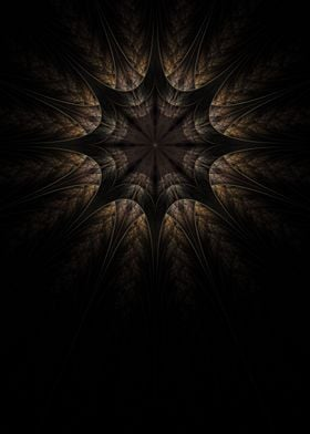 Crystal Star. Raw Fractal made with apophysis. 4000x560 ...