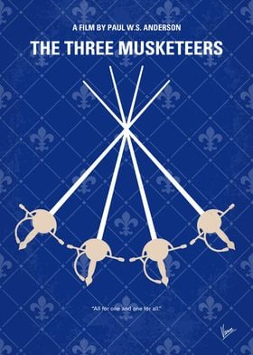 No724 My The Three Musketeers minimal movie poster The ...