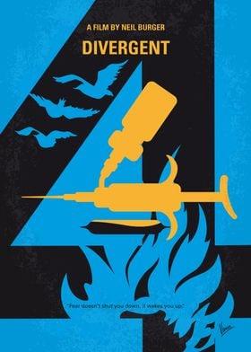 No727 My DIVERGENT minimal movie poster In a world div ...
