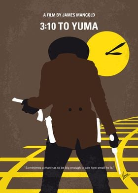 No726 My 310 to Yuma minimal movie poster A small-time ...