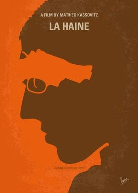 No734 My La Haine minimal movie poster 24 hours in the ...