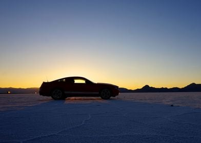 My Mustang on the Utah Salt Flats as featured by the Fo ...
