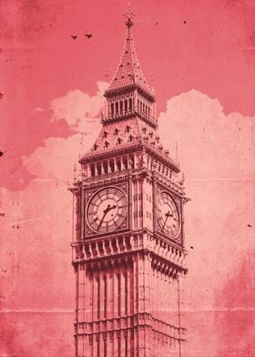 Poster design inspired by Big Ben in London