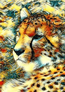 AnimalArt Cheetah 001