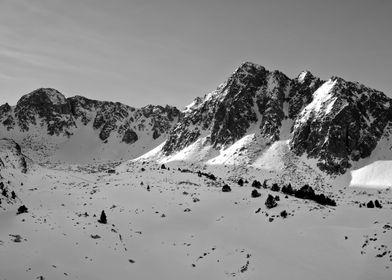 Ski station mountains