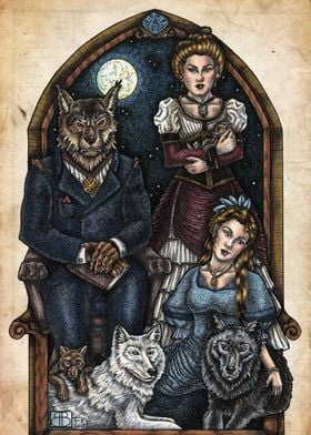 A portrait of the werewolf family.  See more of Bobbi ...