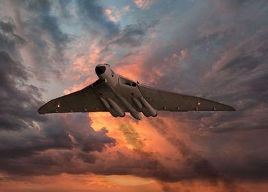 Vulcan Bomber in Anti-Flash White gets airborne