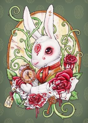 The white Rabbit in his Rabbit Hole, from Alice in Wond ...