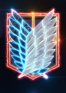 3d Attack on Titan Emblem (modeling, post-production, e ...