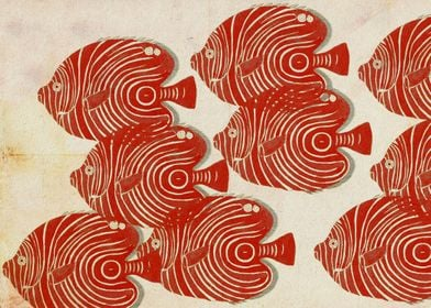 Shoal of Red Fish