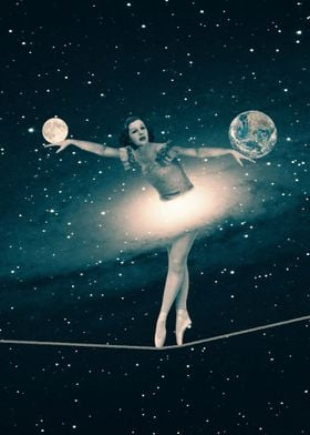 The Cosmic Game of Balance or Universe Ballerina