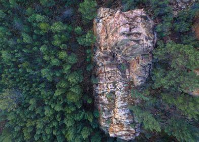 Top down photo of Warren Gorge, South Australia.