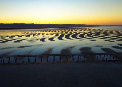 Sunrise over Port Germein, South Australia.