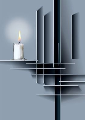 Candle and shapes