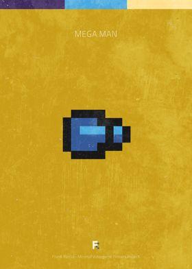 Mega Man. Minimal Videogame Poster.