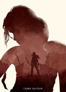 Poster design for the video game, Tomb Raider. (Re-upl ...