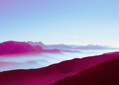 Foggy Mountains | Photography, 2017, Nikon D750