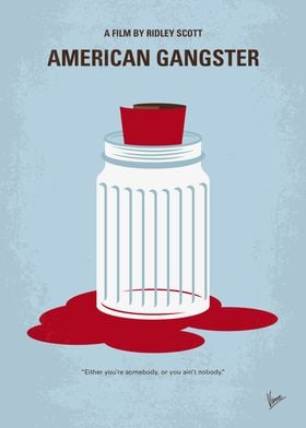 No748 My American Gangster minimal movie poster In 197 ...