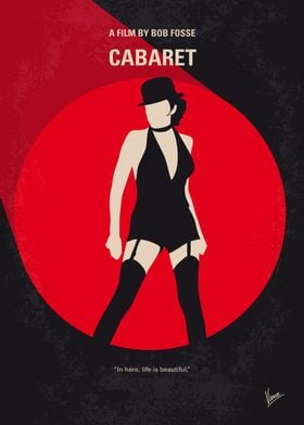 No742 My Cabaret minimal movie poster A female girlie ...