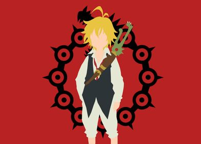 A picture of meliodas from the seven deadly sins