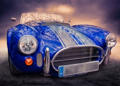 a classic reproduction of Carol Shelby's AC Cobra. A cl ...