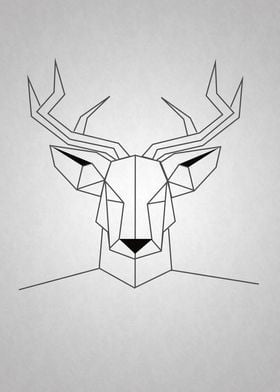 Moose head geometric